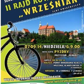 II Rajd Rowerowy WRZEŚNIAN 7. 09. 2014