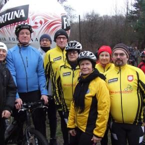 XV noworoczne spotkanie rowerzystów nad Rusałką